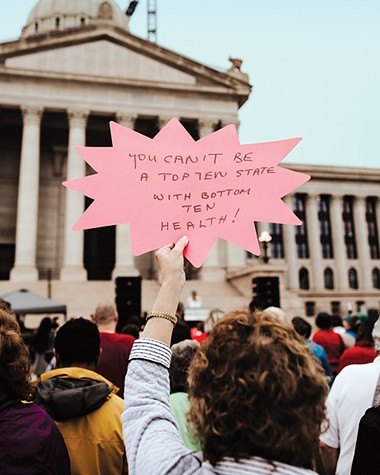 Hundreds of Oklahomans gathered at the state Capitol April 24 to advocate for Medicaid expansion. - ALEXA ACE