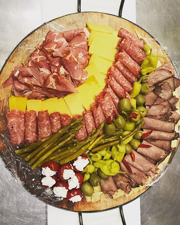 A meat and cheese plate from Lovera's Grocers in Krebs - PROVIDED