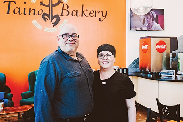 Hector Lopez and Wenddys Rios own D Taino Bakery. - ALEXA ACE