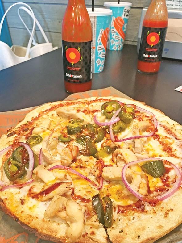 BBQ chicken pizza at Schlotzsky's - JACOB THREADGILL