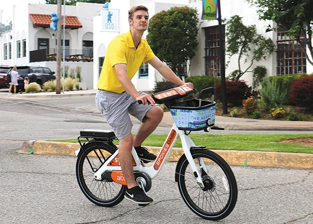 Spokies Dash bikes can be picked up in districts like Uptown 23rd and The Paseo Arts and dropped off anywhere within the service area. - EMBARK / PROVIDED