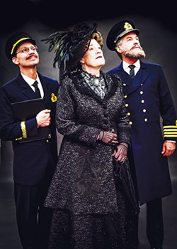 Charlie Monnot as Harold Bride, Barbara Fox DeMaio as Ida Straus and Jeffrey Ambrosini as Captain E.J. Smith in Lyric Theatre's Titanic: The Musical - K. TALLEY PHOTOGRAPHY / PROVIDED