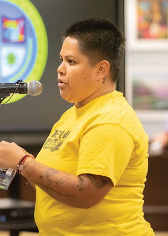 Cynthia Garcia, United We Dream deportation defense manager, said she wants more elected officials who fight for black and brown constituents. - MIGUEL RIOS