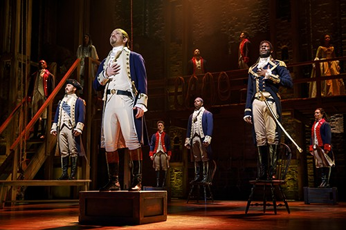 Hamilton: An American Musical runs July 30-Aug. 18 at Civic Center Music Hall's Thelma Gaylord Performing Arts Theatre. - JOAN MARCUS / PROVIDED