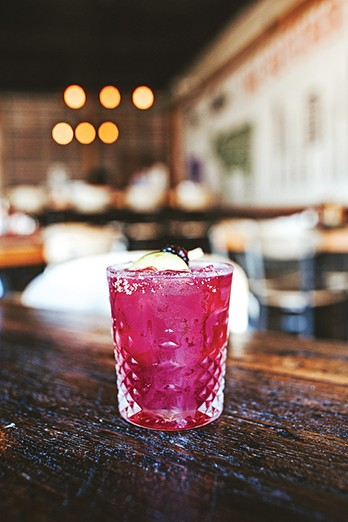 The Margi B cocktail features tequila, cassis, Curaçao, agave, blackberry and lime. - ALEXA ACE
