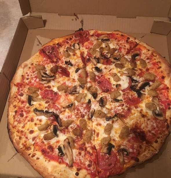 American Favorite pizza from Pizza Planet is mushrooms, pepperoni and sausage. - JACOB THREADGILL