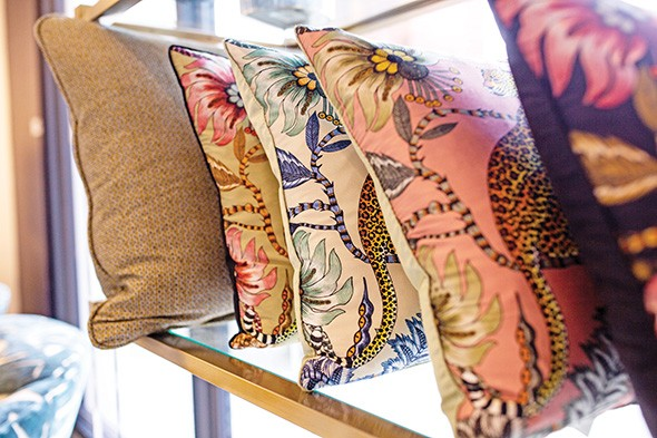 In addition to furniture, Henry's Home Furnishings carries accent pieces like pillows and lamps. - ALEXA ACE
