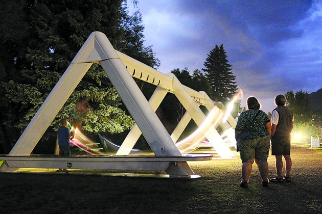The Musical Swings: An Exercise in Musical Cooperation, presented by Oklahoma City Community Foundation and Montreal's Daily tous les jours, features light-up swings that play sounds of musical instruments. - OKLAHOMA CITY COMMUNITY FOUNDATION / DAILY TOUS LES JOURS / PROVIDED