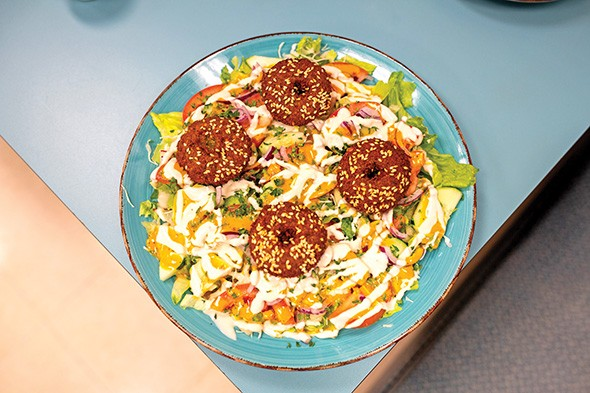 Falafel served with salad - ALEXA ACE