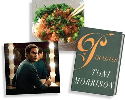 Okie Pokie | Photo Brittany Pickering • Barry (HBO) | Image HBO / provided • Paradise by Toni Morrison | Image Penguin Random House / provided