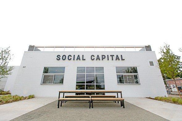 Social Capital is located on Hudson Avenue, across from the western edge of Scissortail Park. - ALEXA ACE