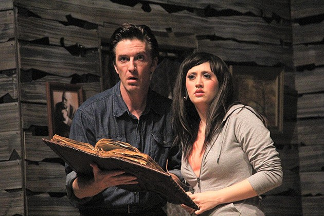 Wil Rogers and Megan Montgomery in Pollard Theatre Company's Evil Dead: The Musical. - PROVIDED