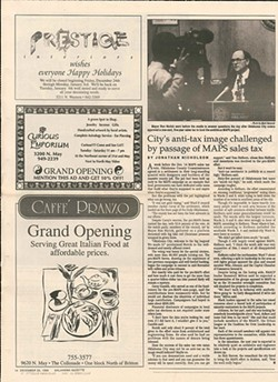 the article after the first MAPS passed the vote in Dec. 1993 - PHOTO GAZETTE/FILE