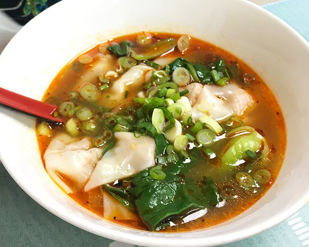 Spicy wonton soup from Yummy Noodles - JACOB THREADGILL