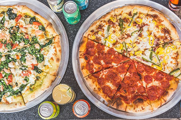 Pesto Dream; Hot, Hot, Heat; and Big Peppa pizzas at Notorious P.I.E. - PROVIDED