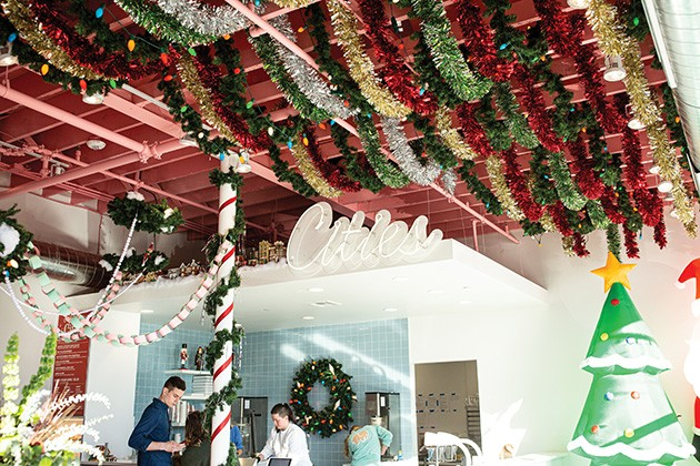 Cities Ice Cream is decked out in a Christmas theme for its holiday pop-up. - ALEXA ACE