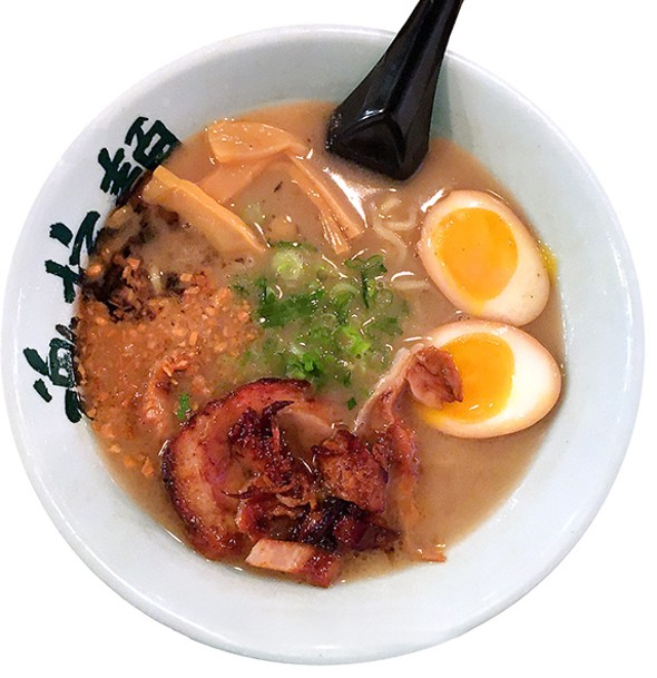 The tonkotsu garlic ramen utilizes four types of garlic. - JACOB THREADGILL