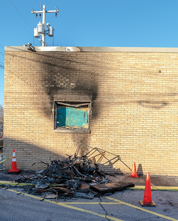Both SB Body Arts and Steve's Greens, owned by Stephanie and Dustin Mathis, were damaged in the fire. - PHILLIP DANNER