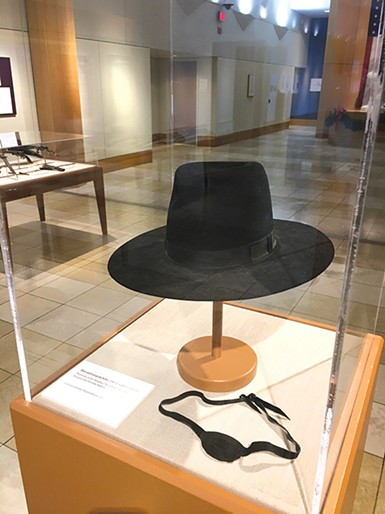An eye patch and hat worn by John Wayne in True Grit (1969), courtesy of John Wayne Enterprises - PROVIDED