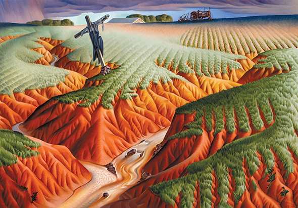 """""""Crucified Land"""" by Alexandre Hogue - PROVIDED"""