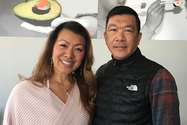 Mary and Kang Nhin are owners of Nhinja Sushi and Wok as well as Nhinjo Sushi and Grill. - JACOB THREADGILL