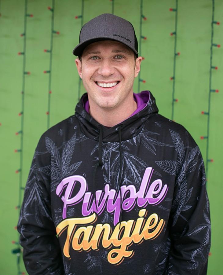 Jeremy Jones, founder of award-winning Purple Tangie Cannabis Co., is focused on producing quality cannabis. - ALEXA ACE