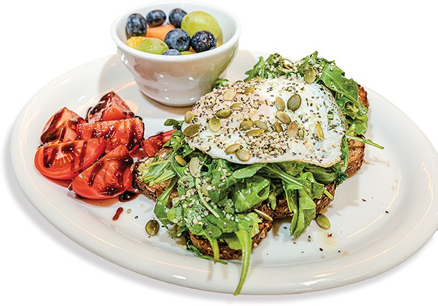 Seeded is one of three styles of avocado toast available on the menu at The Hive Eatery. - AARON GILILLAND / PROVIDED