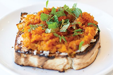 Butternut squash toast at Play Cafe - EMILY FLETCHER / PROVIDED