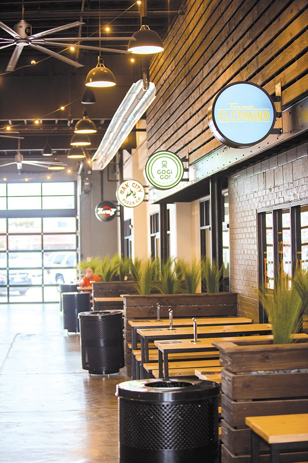Edmond Railyard features - a patio and common seating areas, but each food and drink tenant will also have seating space within their space. - MIGUEL RIOS