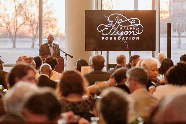 Michael Owens, Ralph Ellison Foundation executive director, speaks at the 2019 celebration gala. - PROVIDED