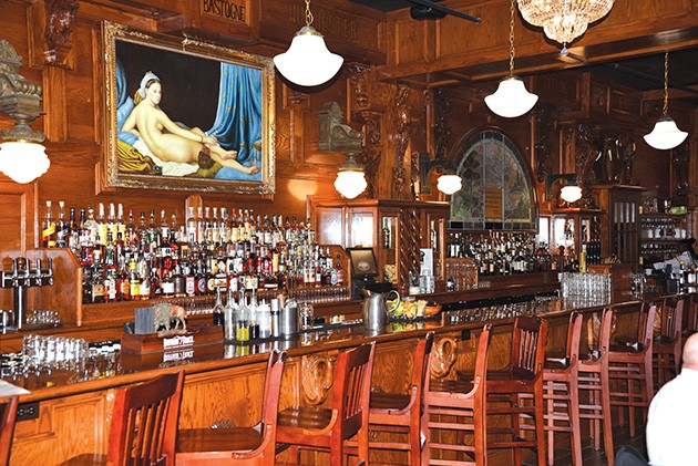 The bar at McClintock features more than 200 kinds of whiskey. - GAZETTE / FILE