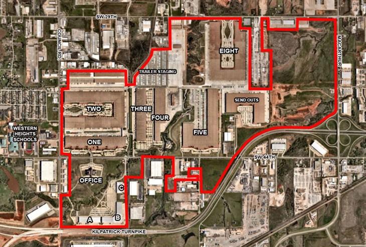 Hobby Lobby's campus includes 12 warehouses. - PETER J. BRZYCKI