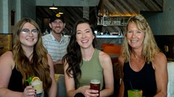 from left bartender Alexei Diggs, Brian Butler, Bailey Butler and Sheri Andrew - PHILLIP DANNER