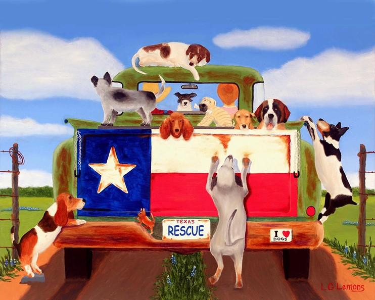 Rescue by Texas artist, Larry G. Lemons