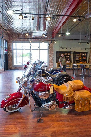 The vintage Indian Motorcycle show room sits near historical Automobile Alley on 10th Street.Photo/Shannon Cornman - SHANNON CORNMAN