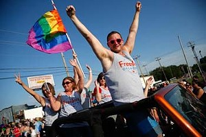 Freedom Oklahoma during OKC Pride Parade, Sunday, June 21, 2015.  (Garett Fisbeck) - GARETT FISBECK