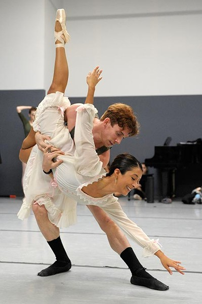Callye Crespo and Walker Martin during a rehearsal of the Nutcraker in Oklahoma City, Sunday, Nov. 21, 2014. - GARETT FISBECK