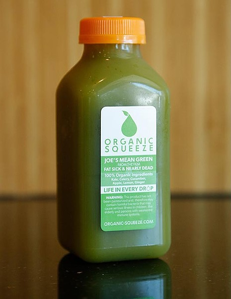 Joe's Mean Green juice at Organic Squeeze in Oklahoma City, Thursday, June 4, 2015. - GARETT FISBECK