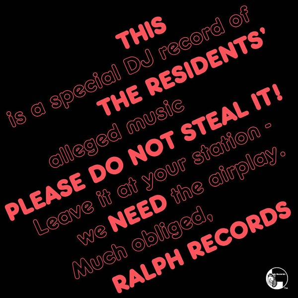 The Residents' 1979 college radio promo record Please Do Not Steal It! sees a Record Store Day re-release. (Provided)