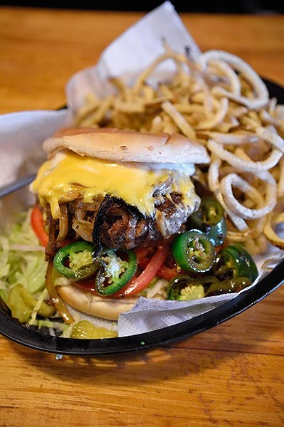 Cheesburger basket at Nic's Grill, 1201 N. Pennsylvania Avenue in Oklahoma City, 12-23-15. - MARK HANCOCK