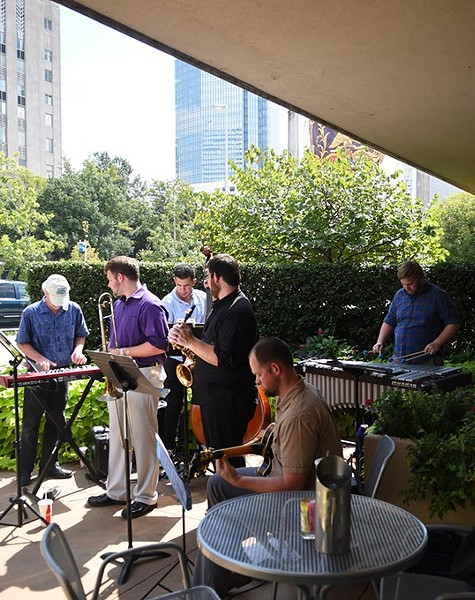 UCO Ensamble during the OKC Jazz Fest, on the patio at the Museum Cafe, 9-24-15. - MARK HANCOCK