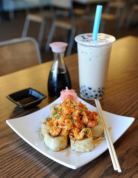 Golden Taipei and Black Milk Tea with Boba at Cafe Taipei in Edmond, Wednesday, Jan. 13, 2016. - GARETT FISBECK