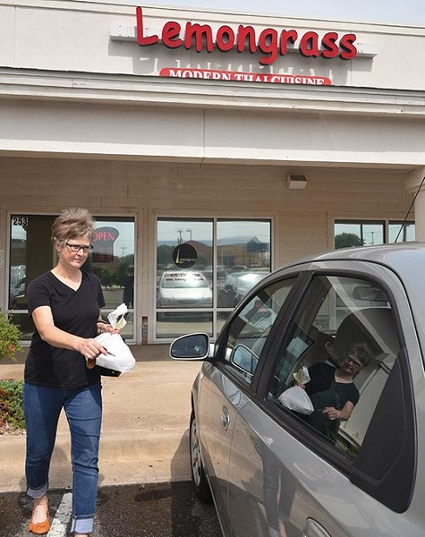 Beverly Lance gets food to-go from Lemongrass Modern Thai Cuisine in Edmond often, today it was Pad Thai Curry.  mh
