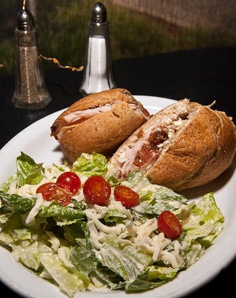 Tuscany Turkey with Caesar Salad, at The Stuffed Olive (Mark Hancock)