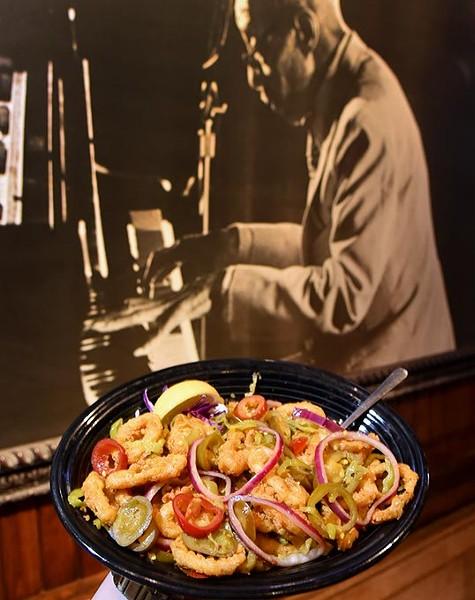 Hot & Spicy Fried Calamari at Crabtown in Bricktown, OKC, 12-10-15. - MARK HANCOCK