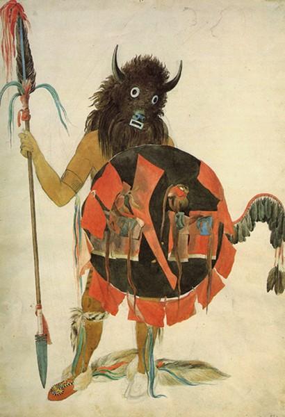 """""""Mandan Buffalo Dancer"""" by Karl Bodmer - PROVIDED"""