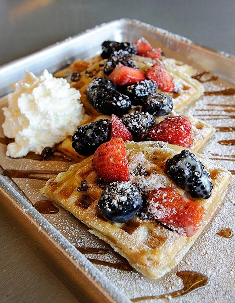 Build Your Own Waffle at Waffle Champion, Tuesday, March 3, 2015. - GARETT FISBECK