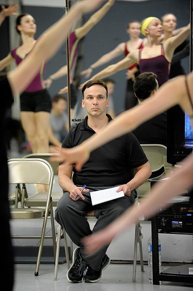 Artistic director Robert Mills during a rehearsal of the Nutcraker in Oklahoma City, Sunday, Nov. 21, 2014. - GARETT FISBECK