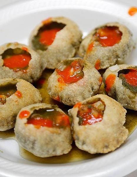Pani Puri at Rasoi Chaat Cafe in Oklahoma City, Wednesday, April 29, 2015. - GARETT FISBECK