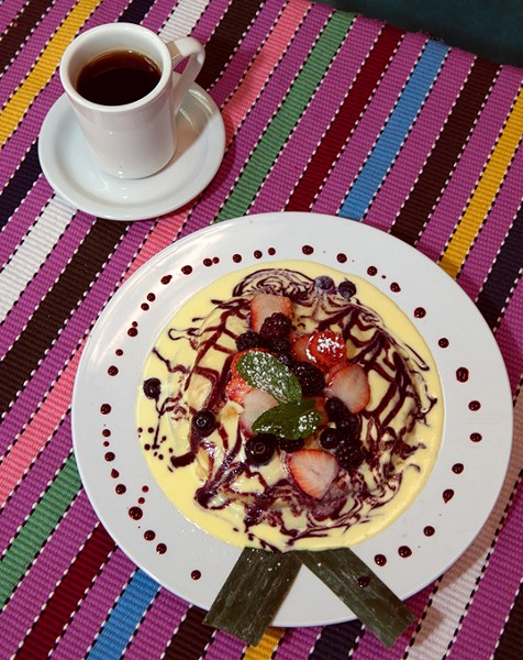 Wildberry Pancakes at Cafe Kacao.  mh